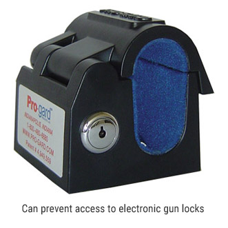 Can prevent access to electronic gun locks