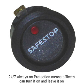 24/7 Always-on Protection means officers can turn it on and leave it on