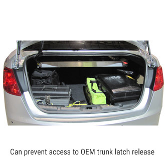 Can prevent access to OEM trunk latch release